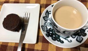 フォンダンショコラとコーヒー